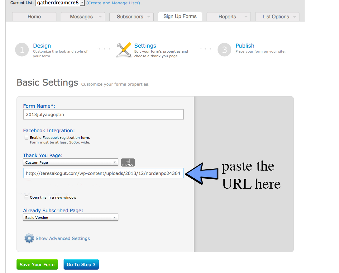 instruction 4 Episode 18   How to Create An Optin For Your Blog Using Aweber